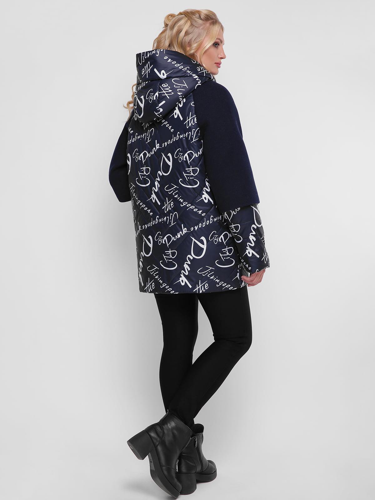 Куртка синяя в принт   4781714   фото 3