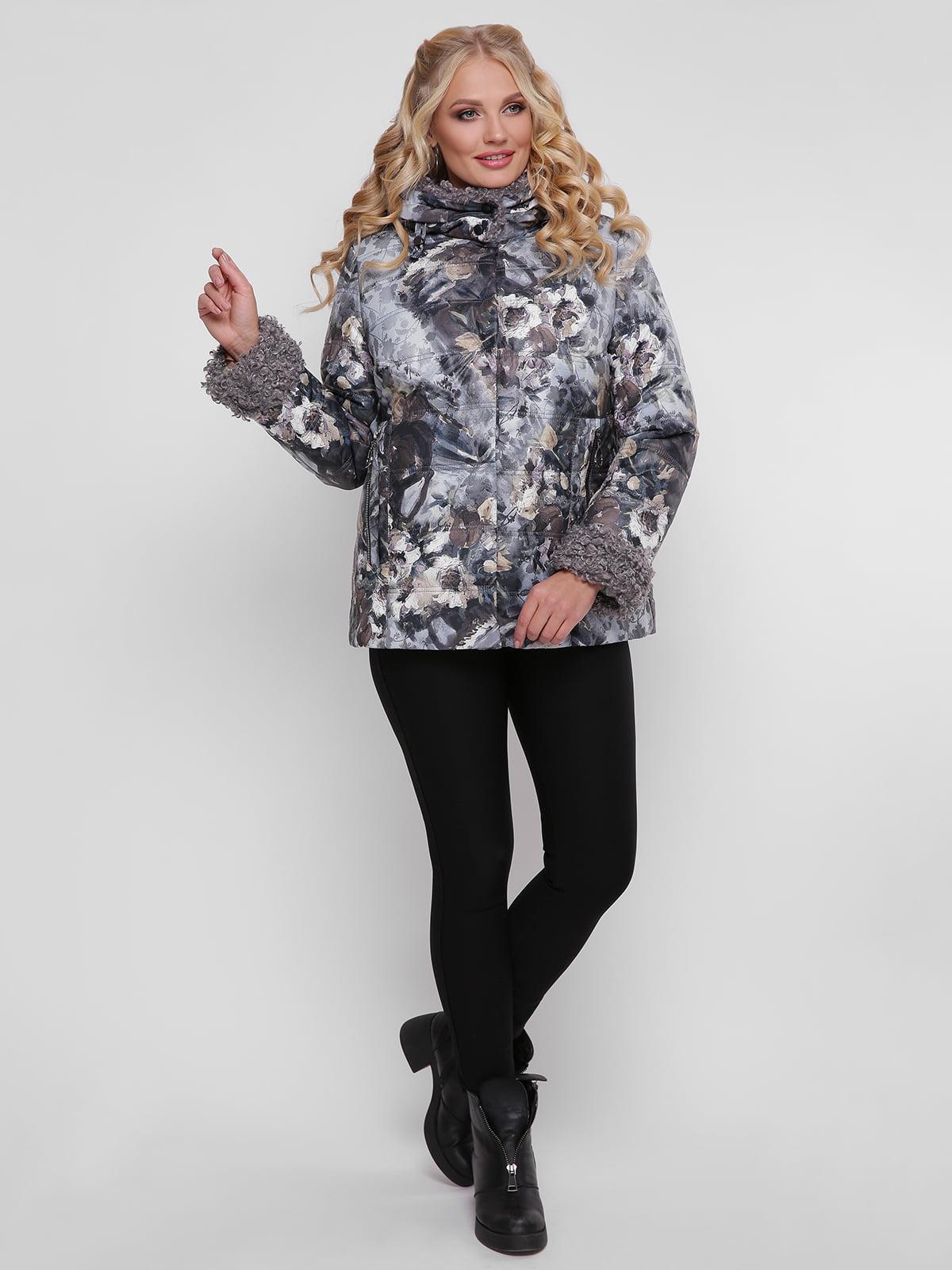 Куртка в квітковий принт | 4781715