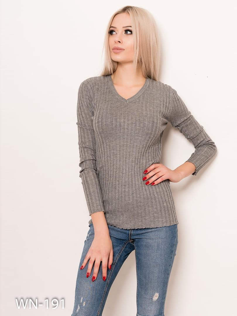 Пуловер серый | 4782200