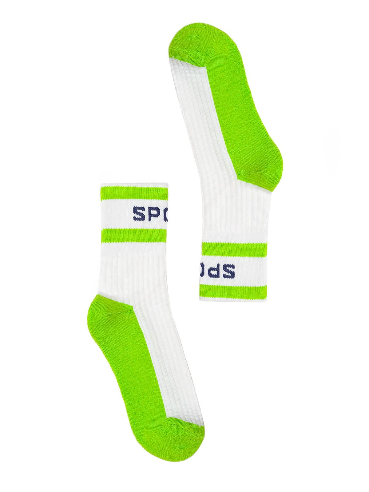 Шкарпетки біло-зелені   4782392