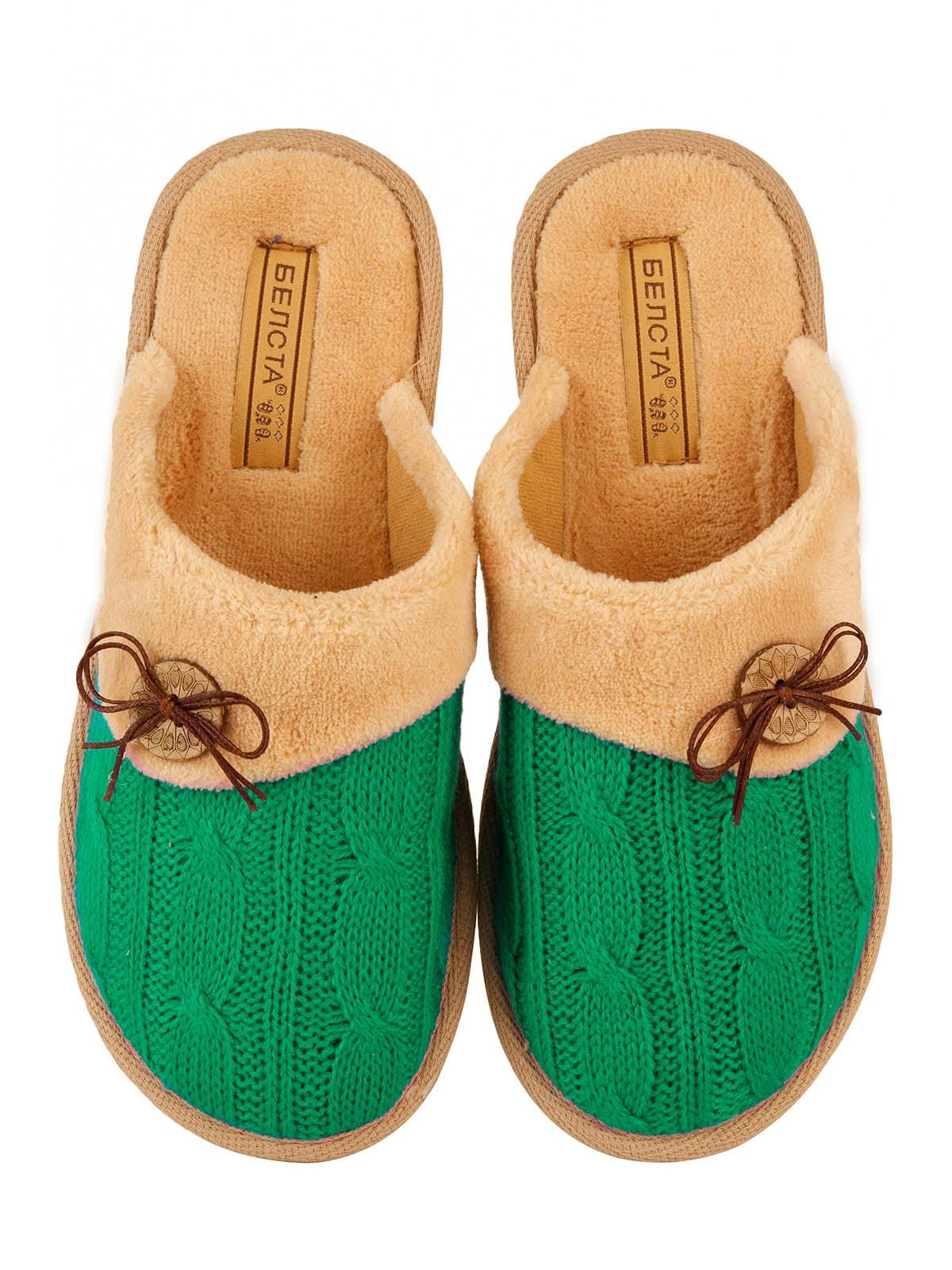 Тапочки зеленые   4782905