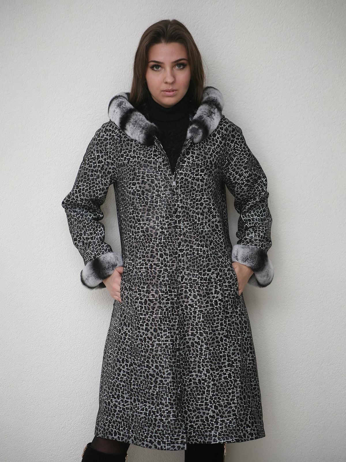Пальто черное-белое | 4782815