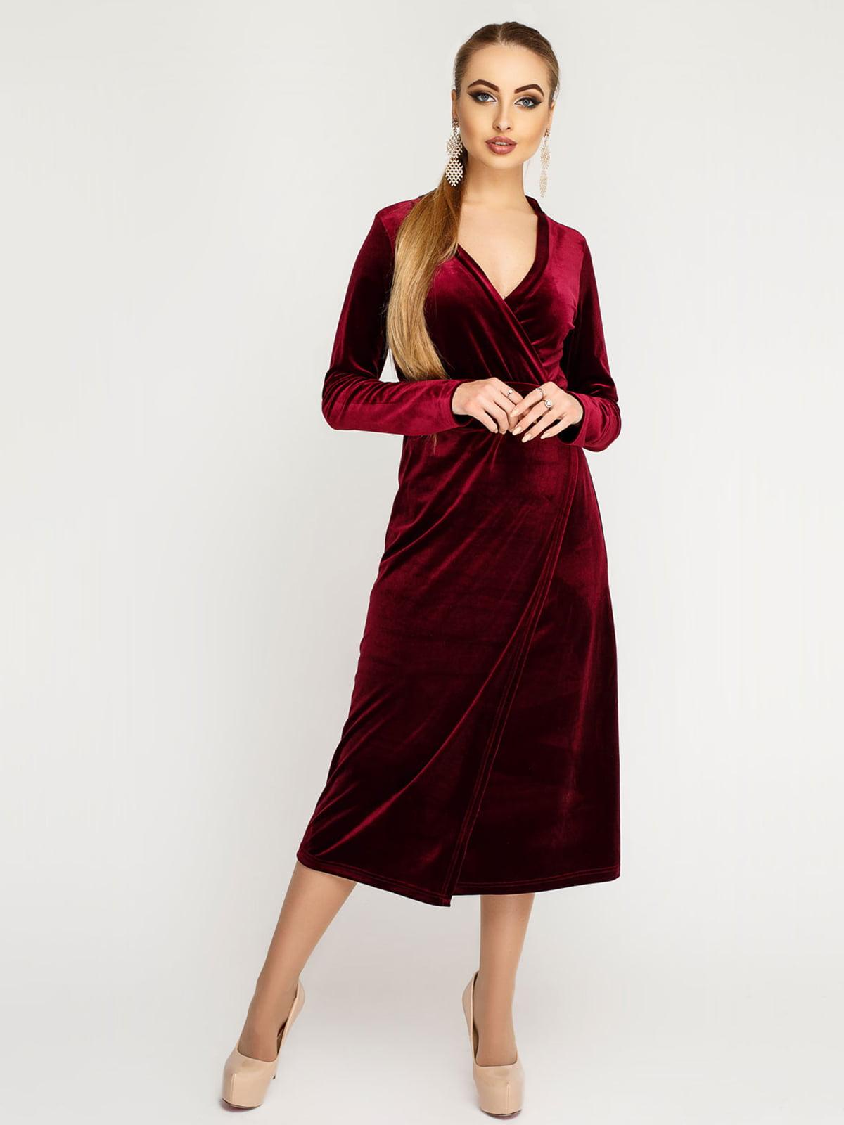 Сукня бордова | 4782984