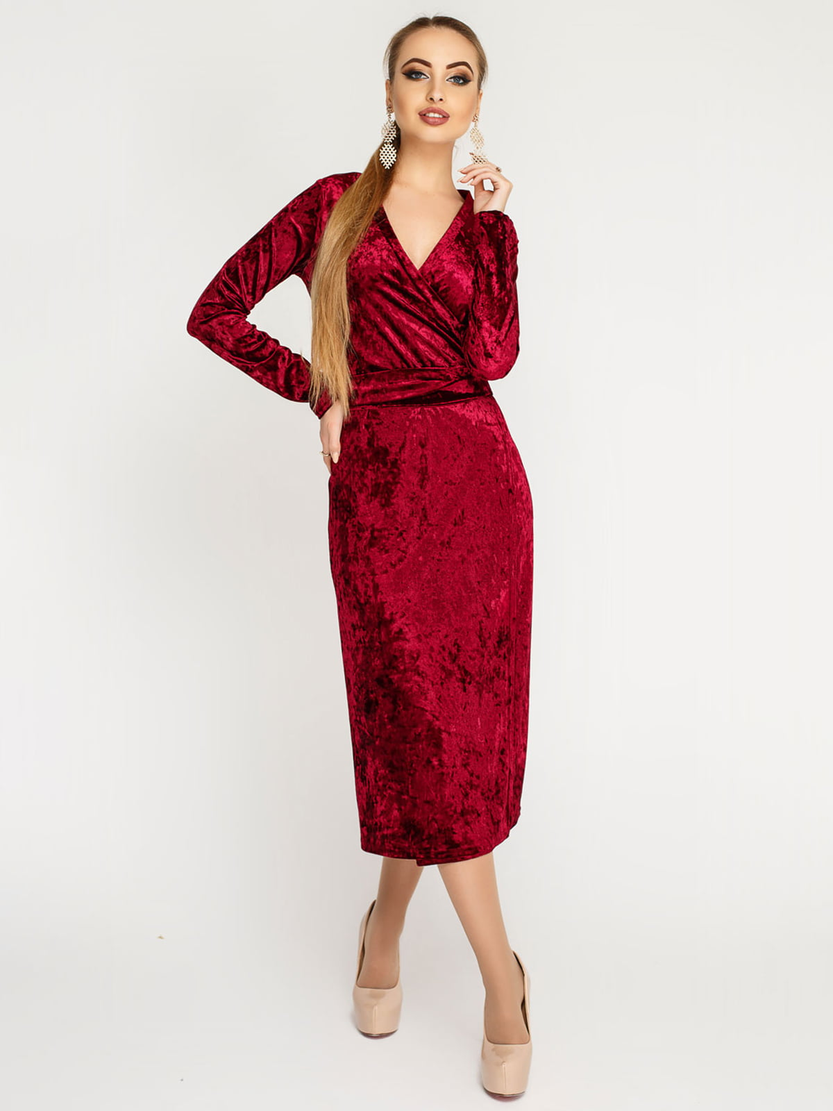 Платье бордовое | 4782989