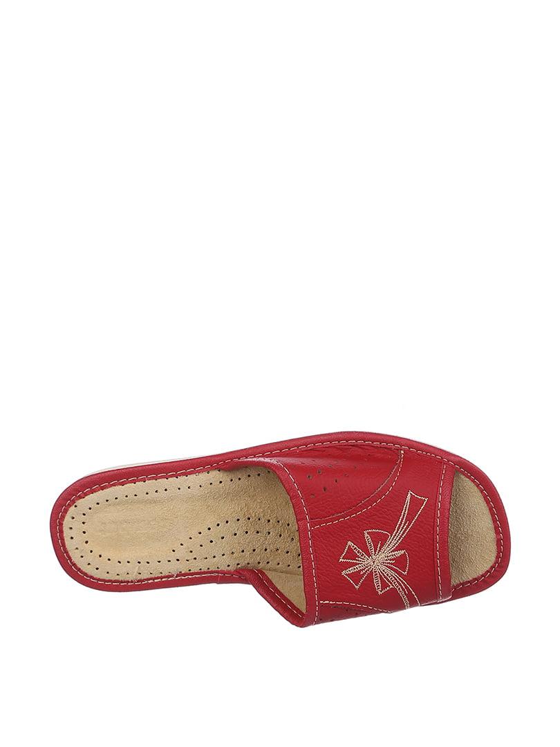 Тапочки красные с вышивкой | 4599432 | фото 2
