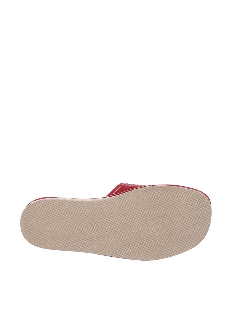 Тапочки красные с вышивкой | 4599432 | фото 3