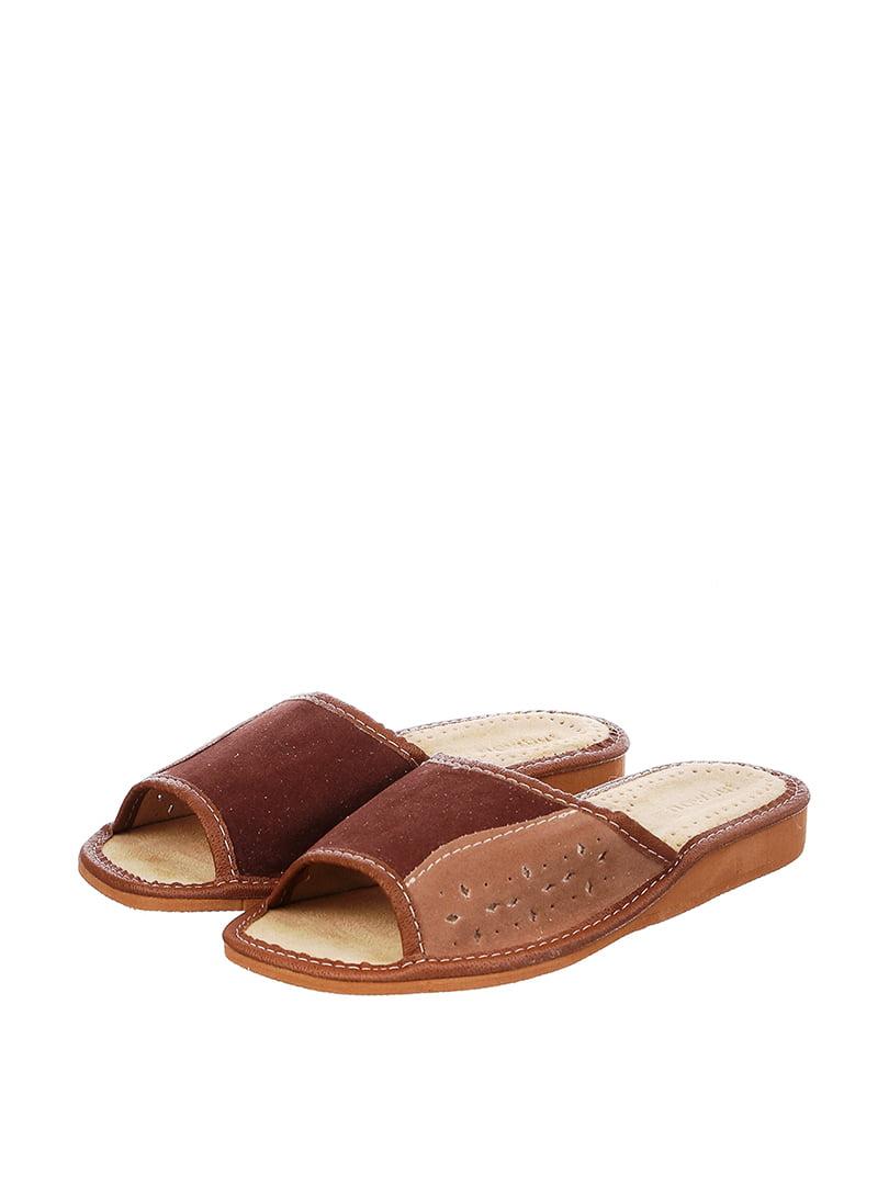 Тапочки коричневые   4599438