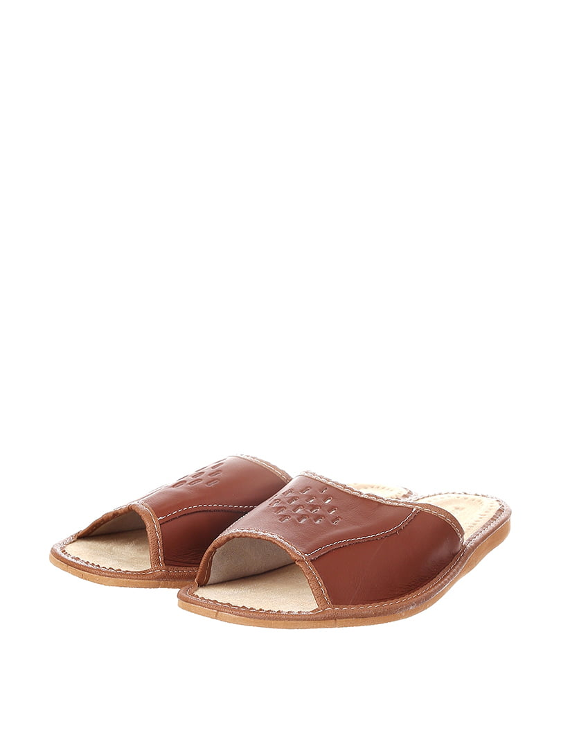 Тапочки коричневые | 4599499