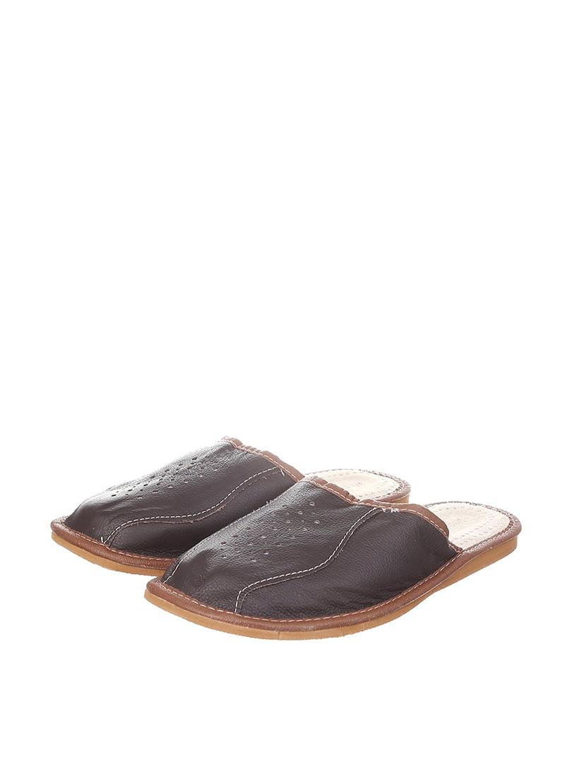 Тапочки темно-коричневые | 4599517