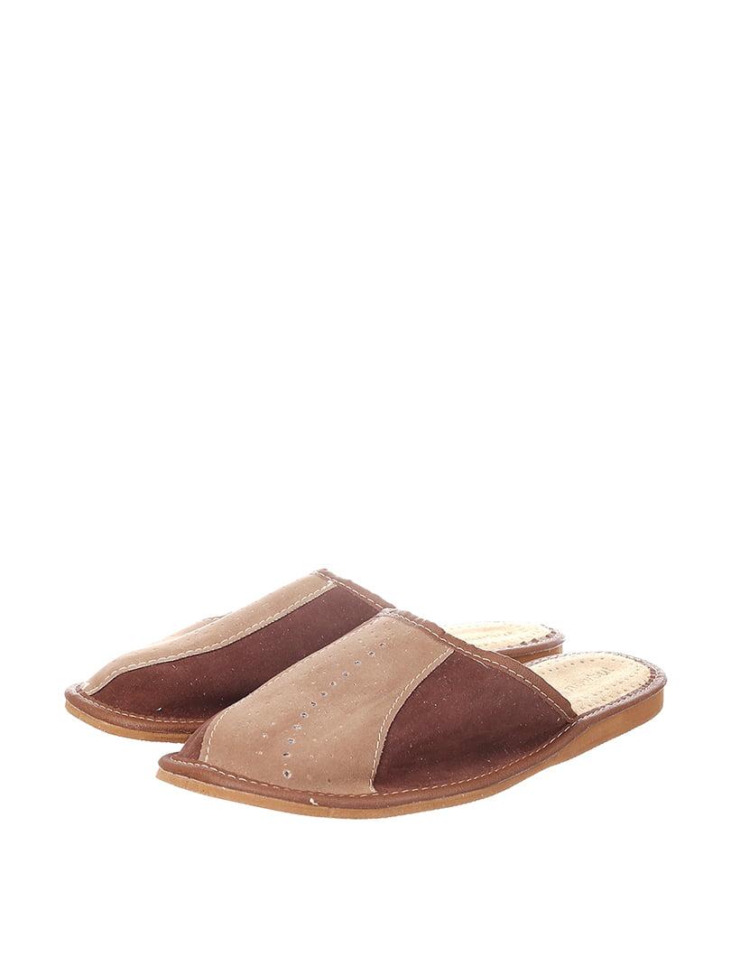 Тапочки коричневые | 4599518
