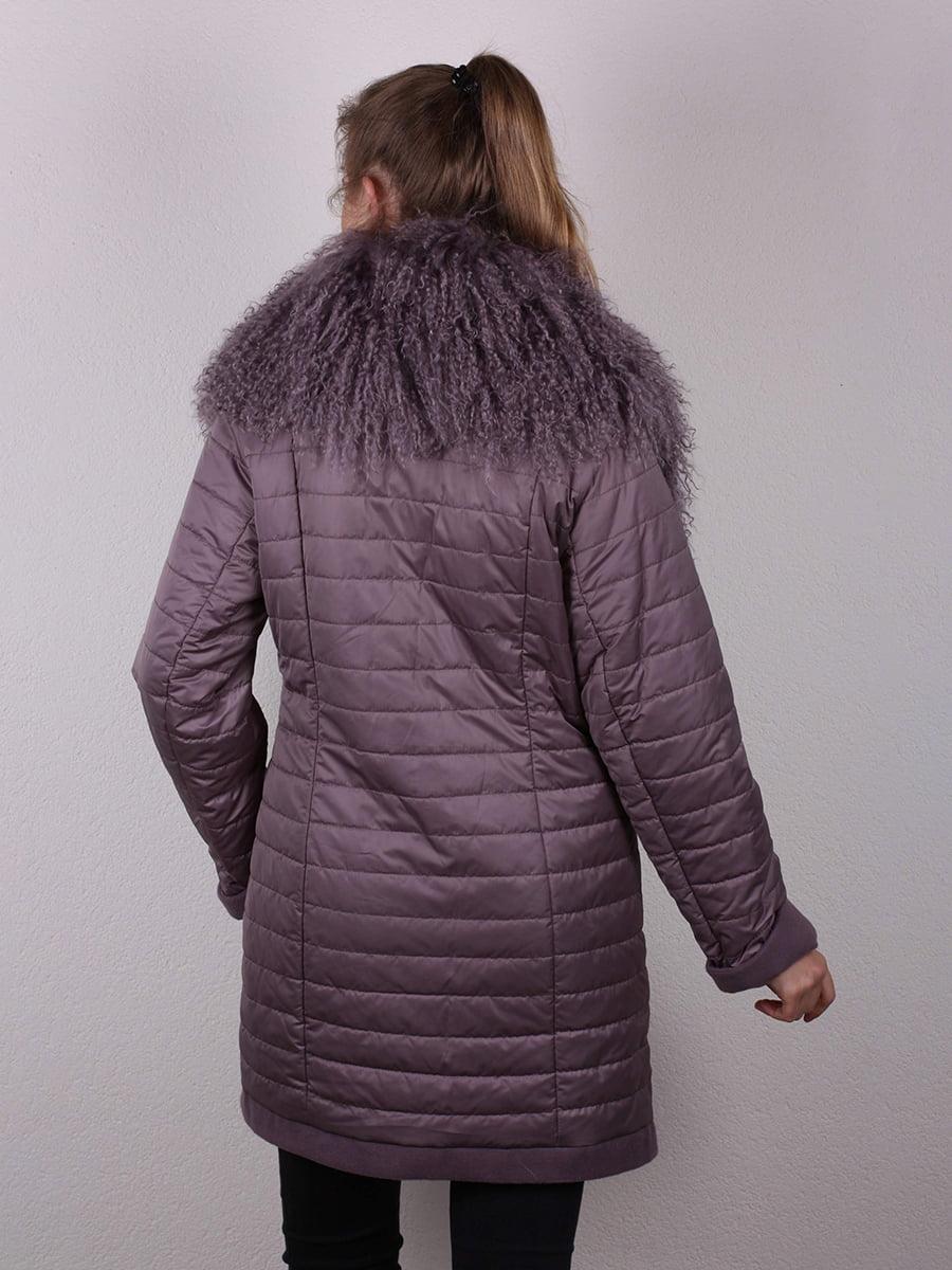 Пальто сиреневое | 4770662 | фото 5