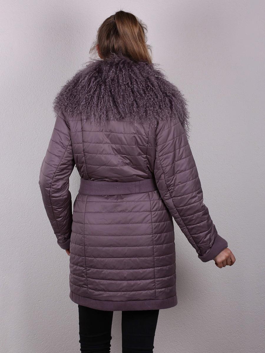 Пальто сиреневое | 4770662 | фото 6