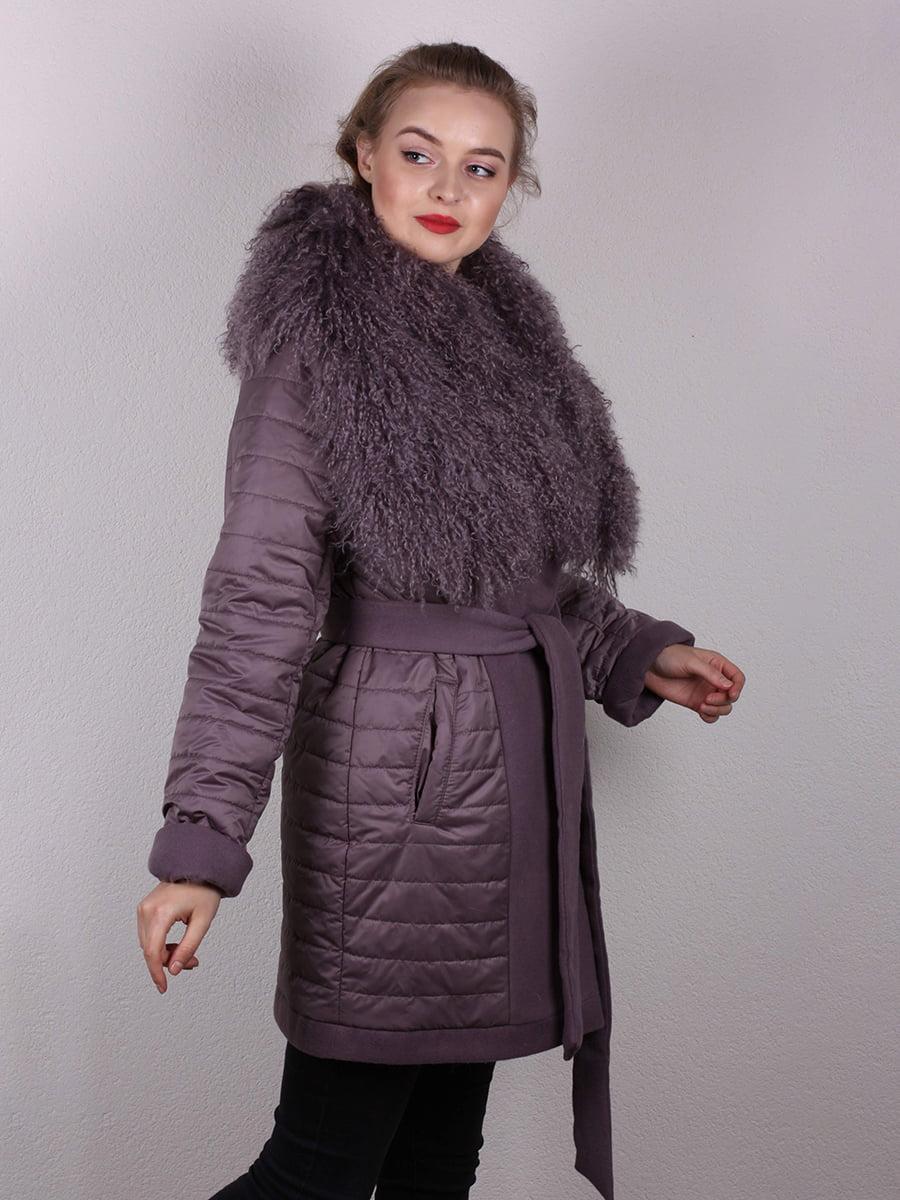 Пальто сиреневое | 4770662 | фото 3