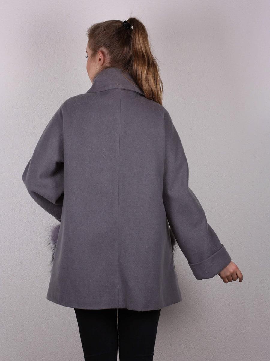 Пальто серое | 4770681 | фото 3