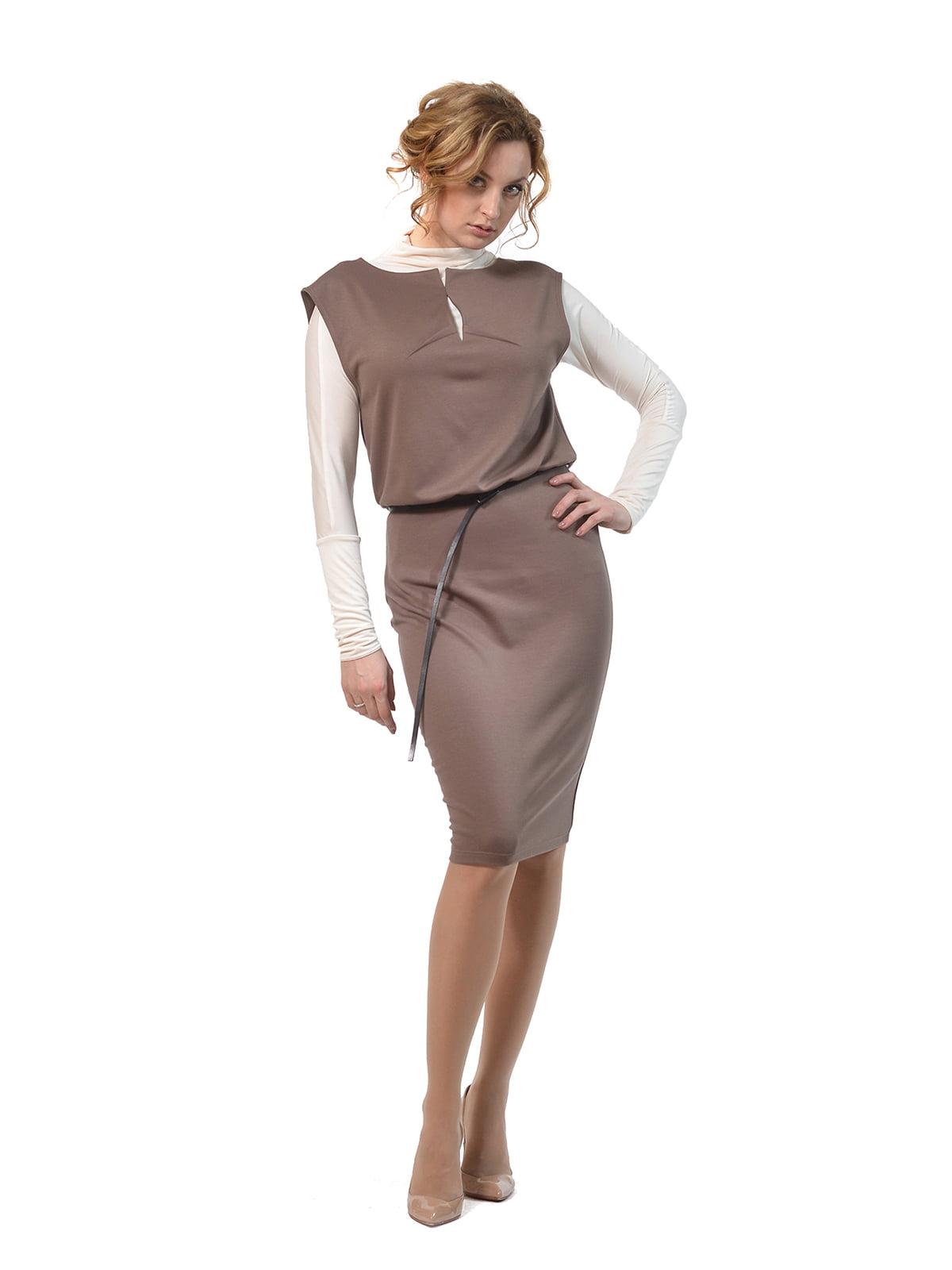 Платье-сарафан цвета мокко   4723945