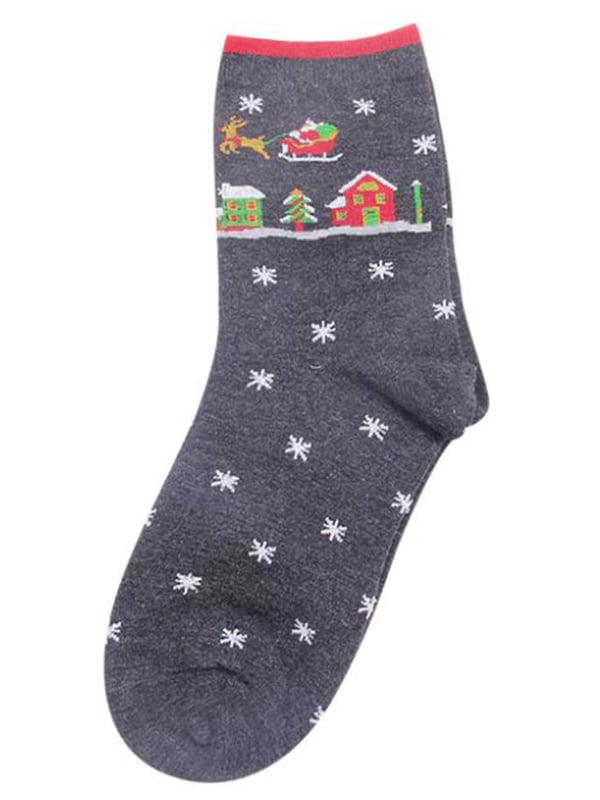 Шкарпетки сірі з малюнком підліткові   4782335