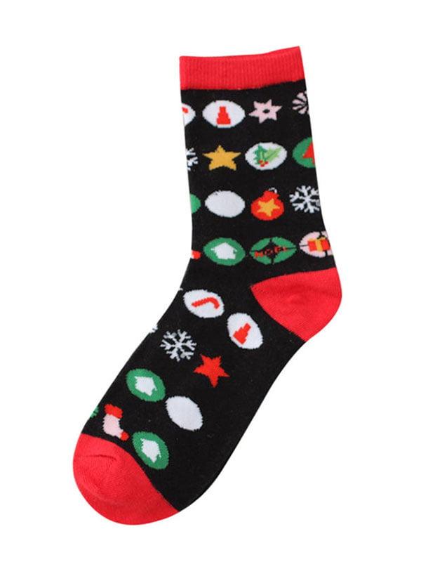Шкарпетки чорні з малюнком підліткові | 4782338