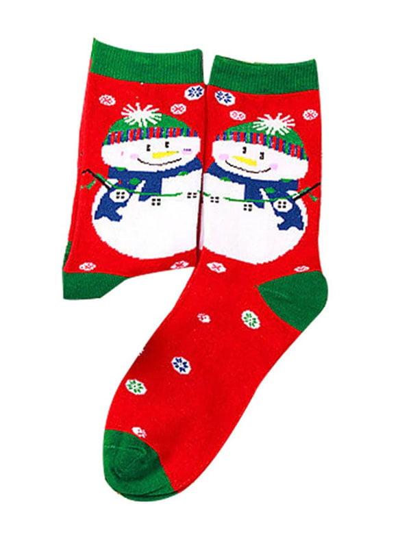 Шкарпетки червоні з малюнком підліткові | 4782339