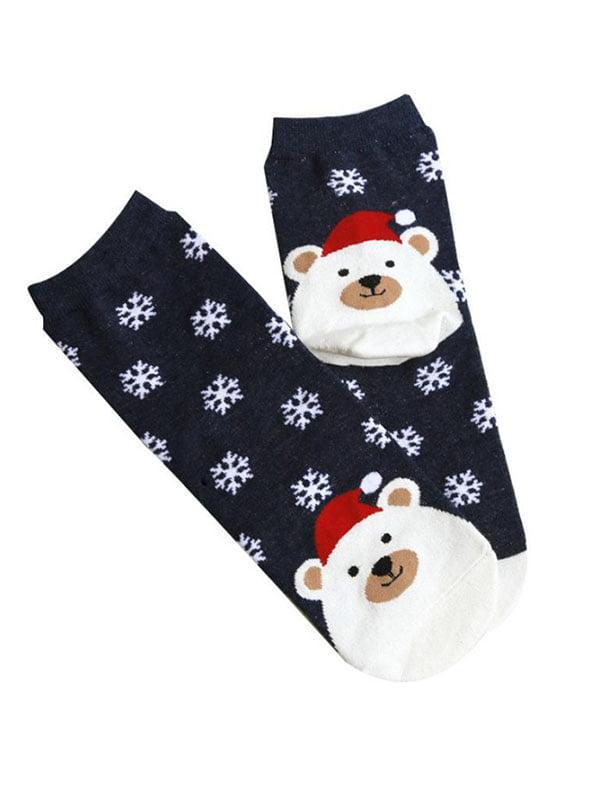 Шкарпетки темно-сині з малюнком підліткові | 4788949