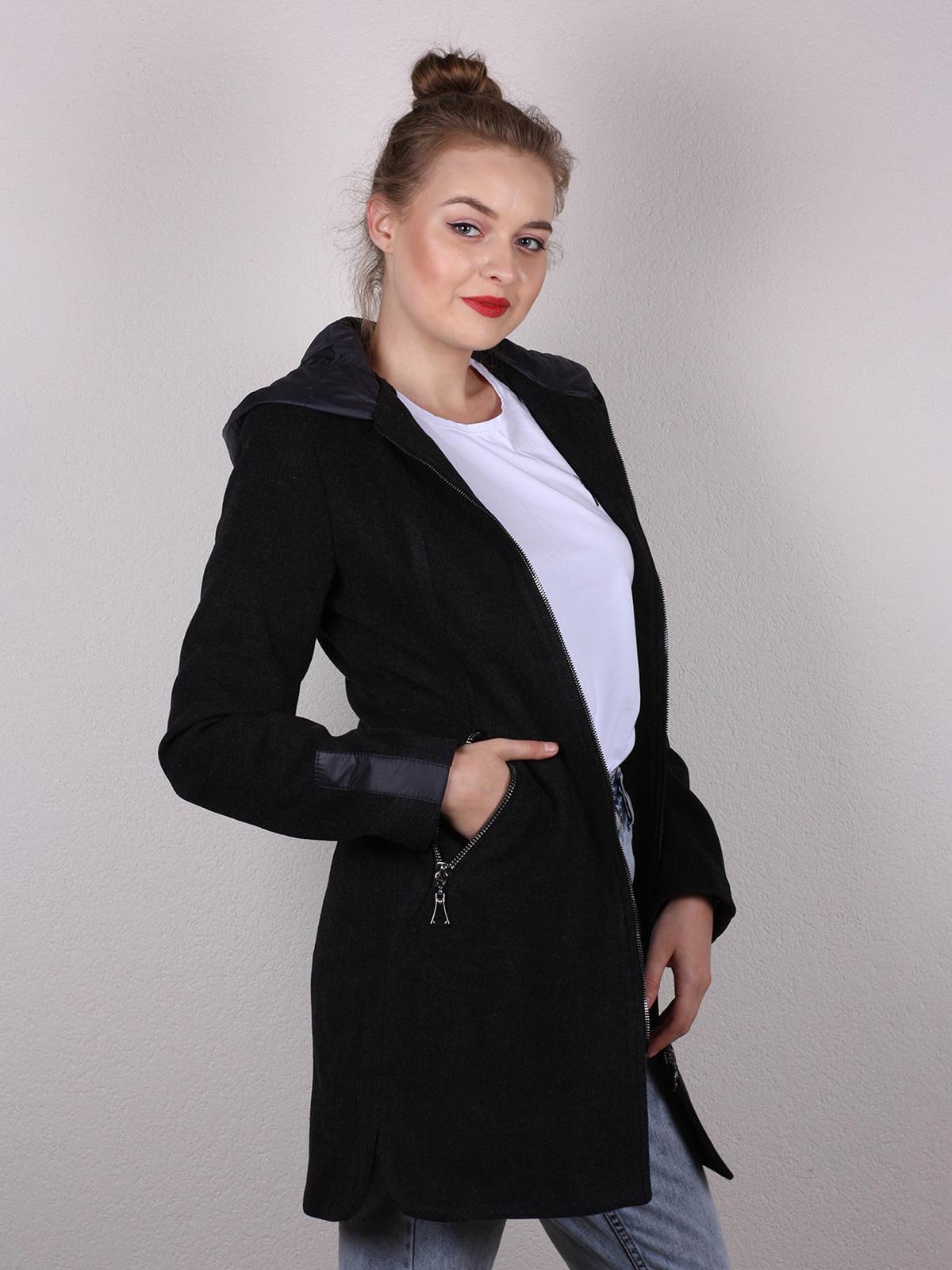 Пальто черное   4770580   фото 3