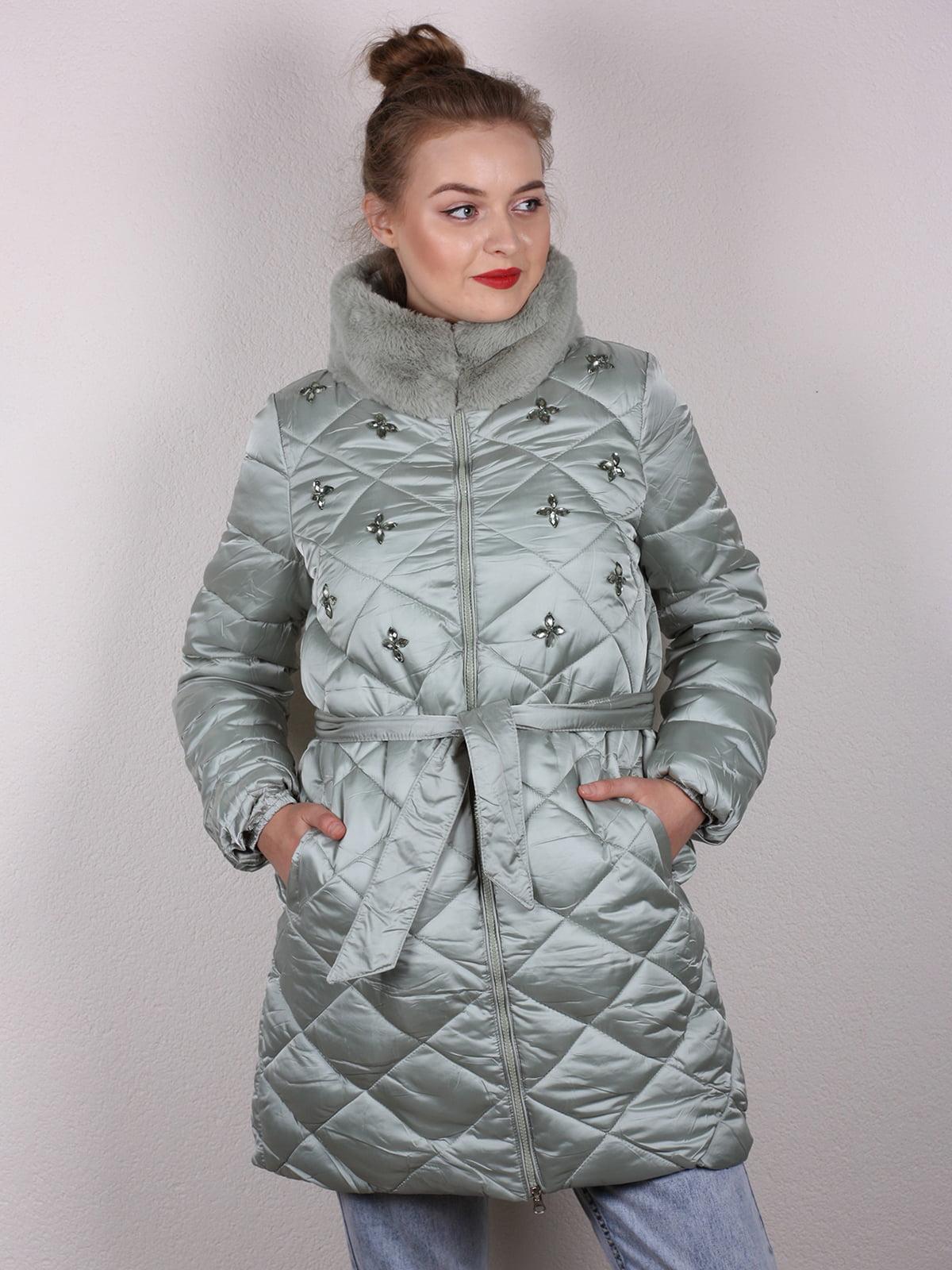 Пальто мятного цвета | 4770600