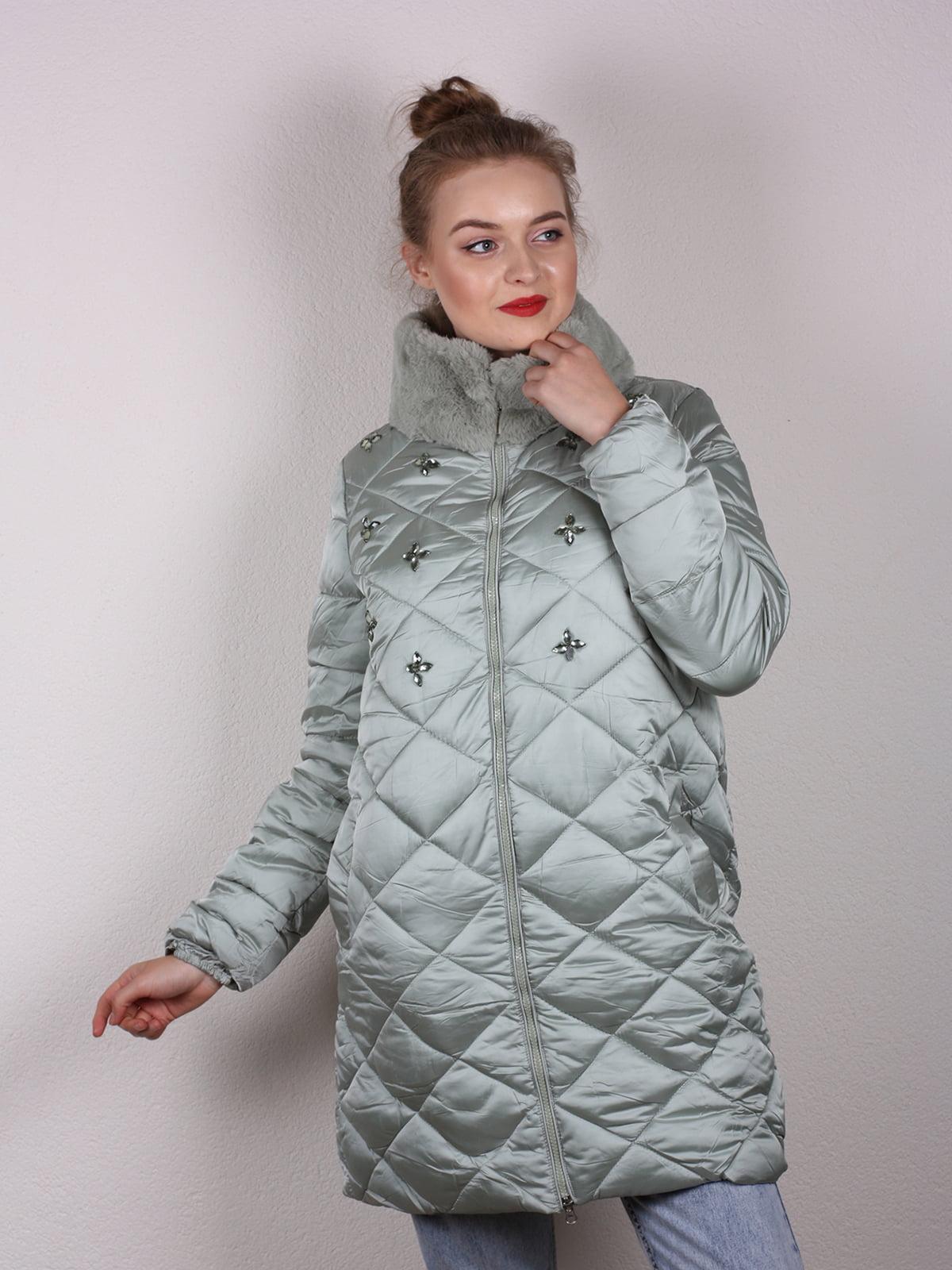 Пальто мятного цвета | 4770600 | фото 2