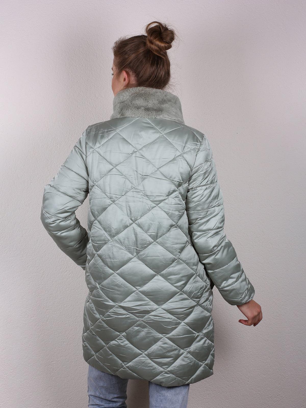 Пальто мятного цвета | 4770600 | фото 3
