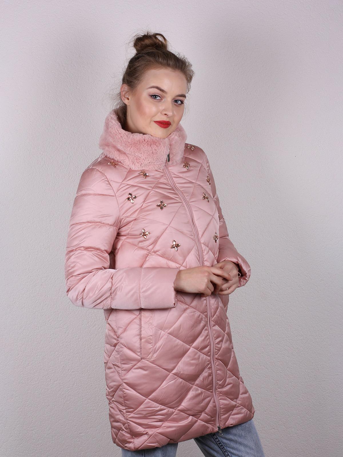 Пальто розовое | 4770602 | фото 2