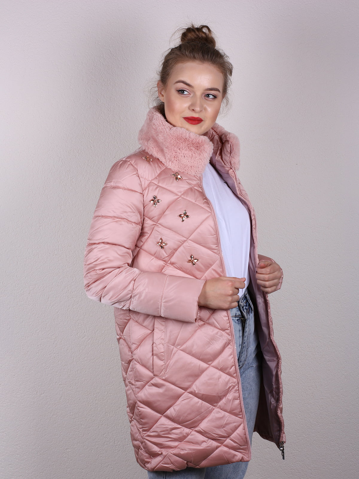 Пальто розовое | 4770602 | фото 3