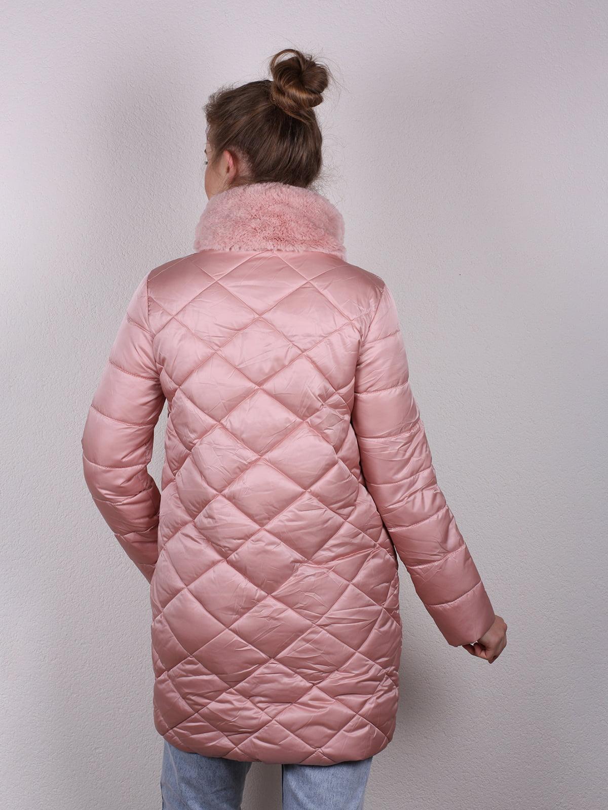 Пальто розовое | 4770602 | фото 4