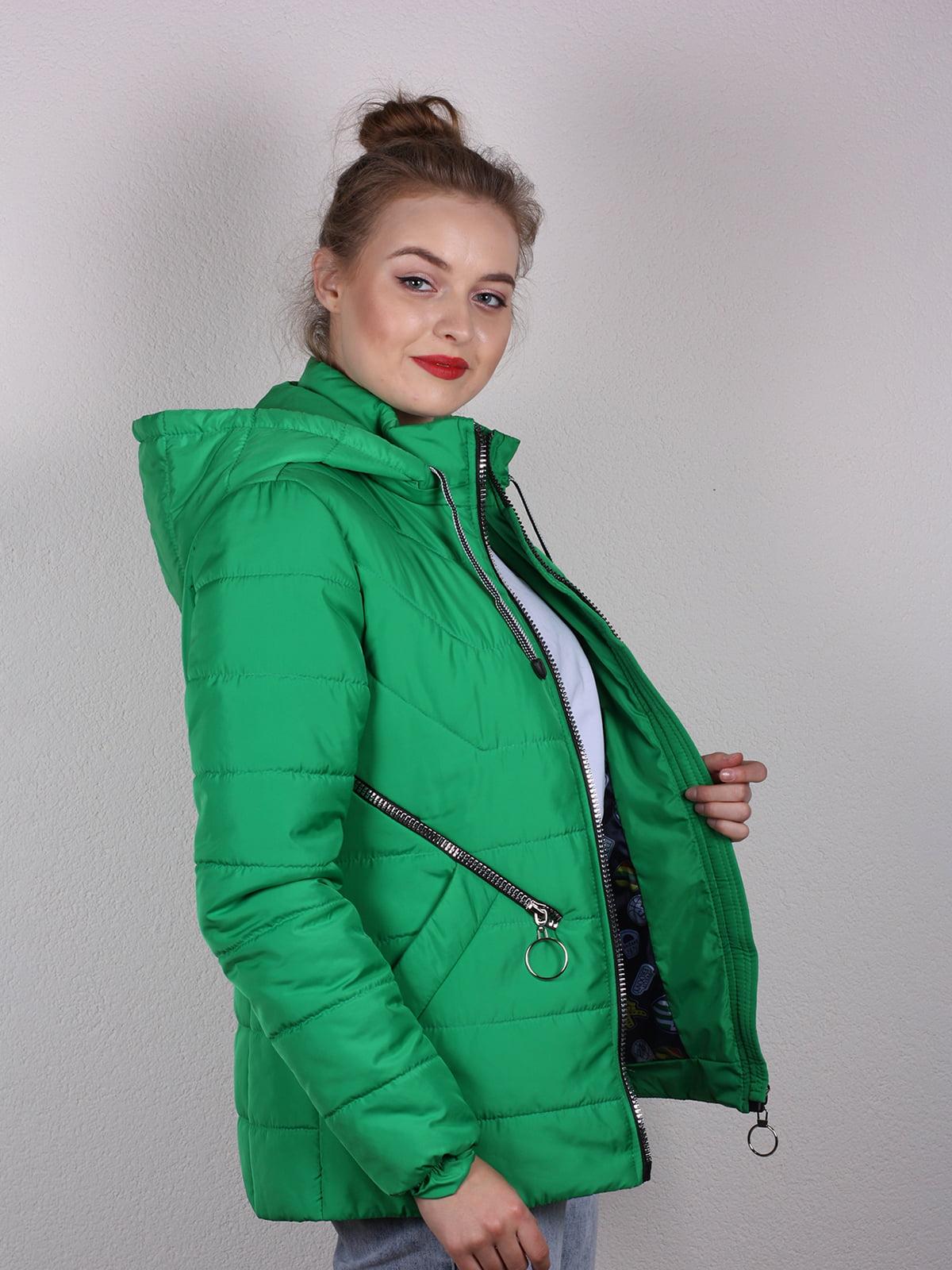 Куртка зеленая | 4770611 | фото 2