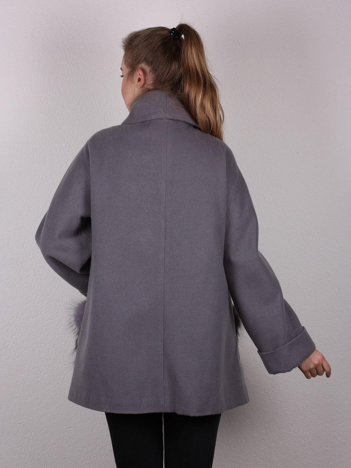 Пальто серое | 4770681 | фото 6