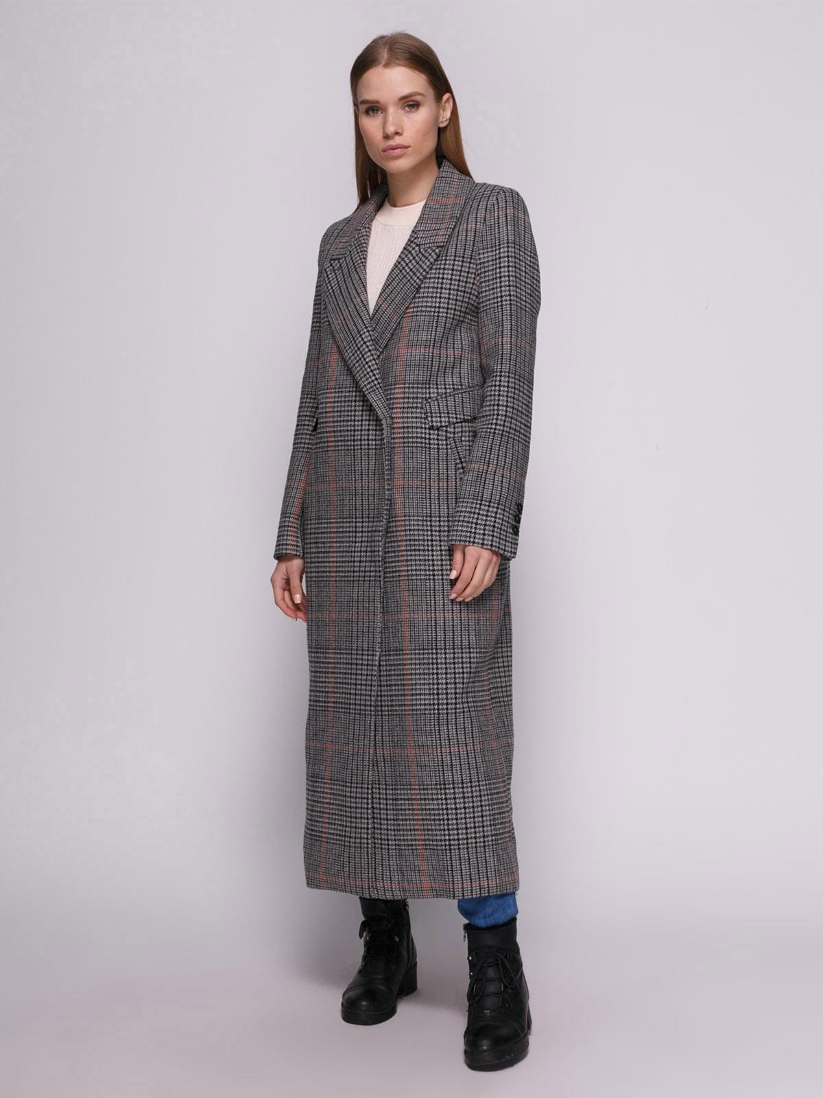 Пальто клетчатое | 4780195 | фото 2