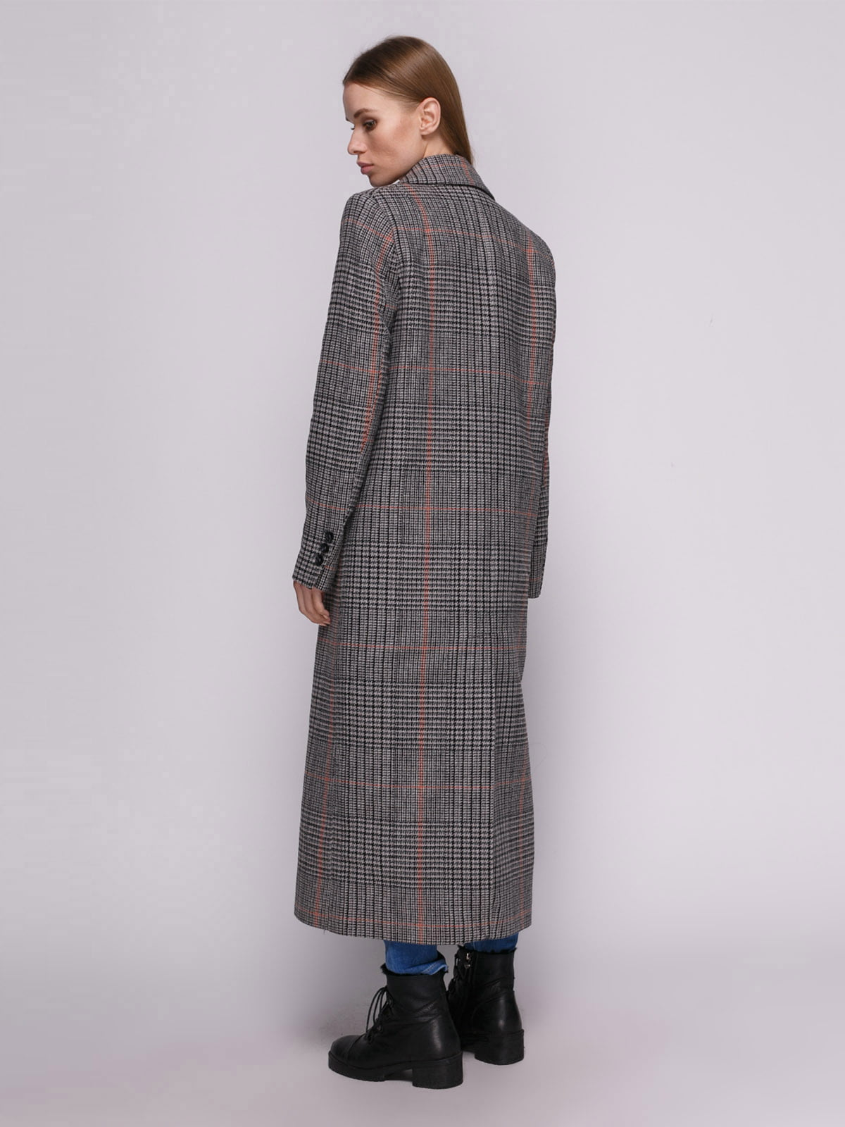Пальто клетчатое | 4780195 | фото 3