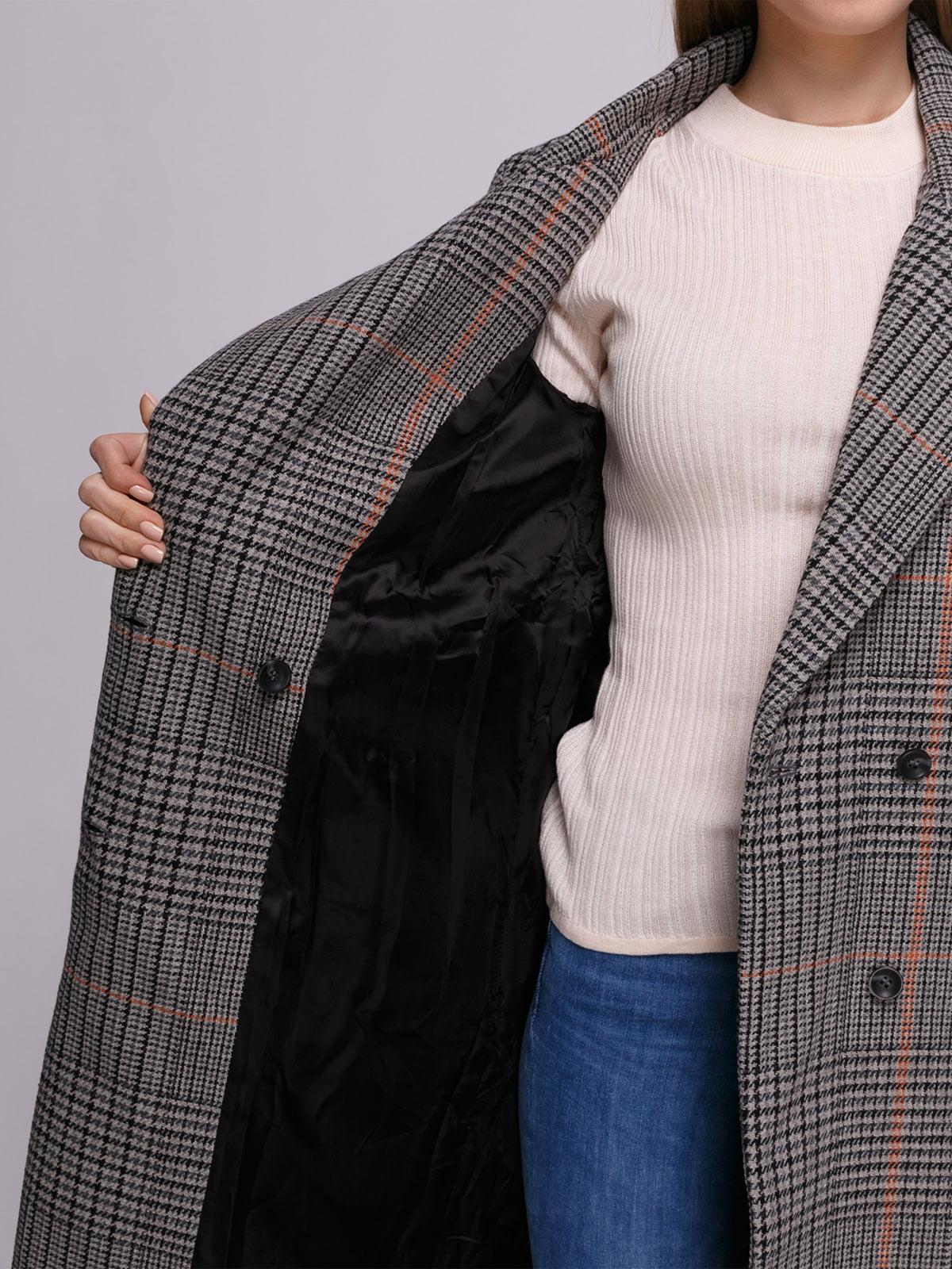 Пальто клетчатое | 4780195 | фото 4