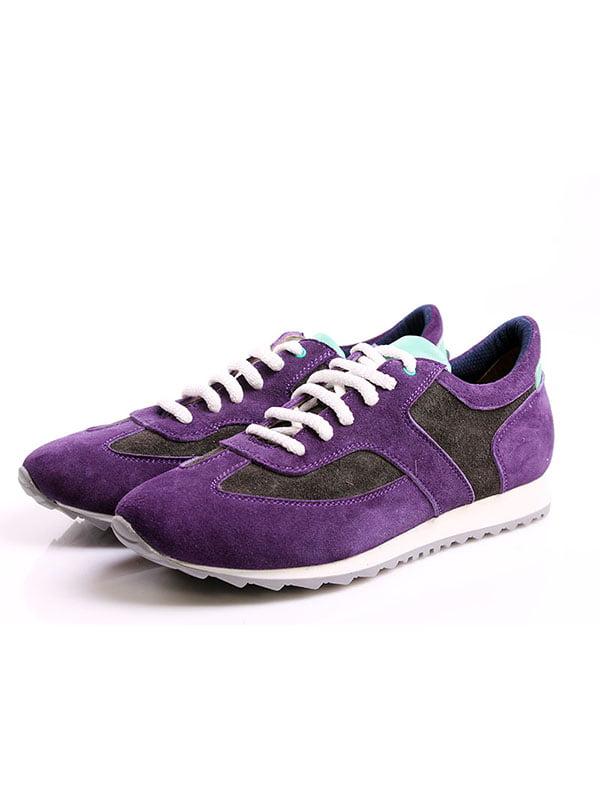 Кроссовки серо-фиолетовые | 4777967