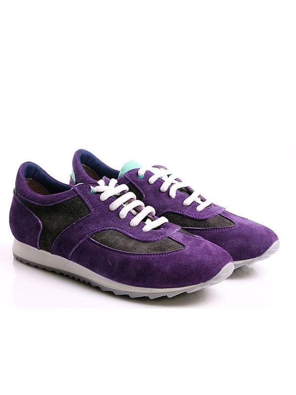 Кроссовки серо-фиолетовые | 4777967 | фото 2