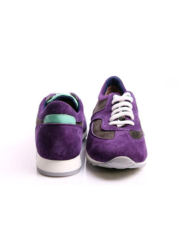 Кроссовки серо-фиолетовые | 4777967 | фото 3