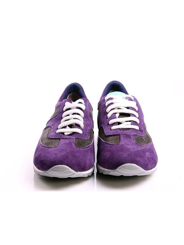 Кроссовки серо-фиолетовые | 4777967 | фото 4