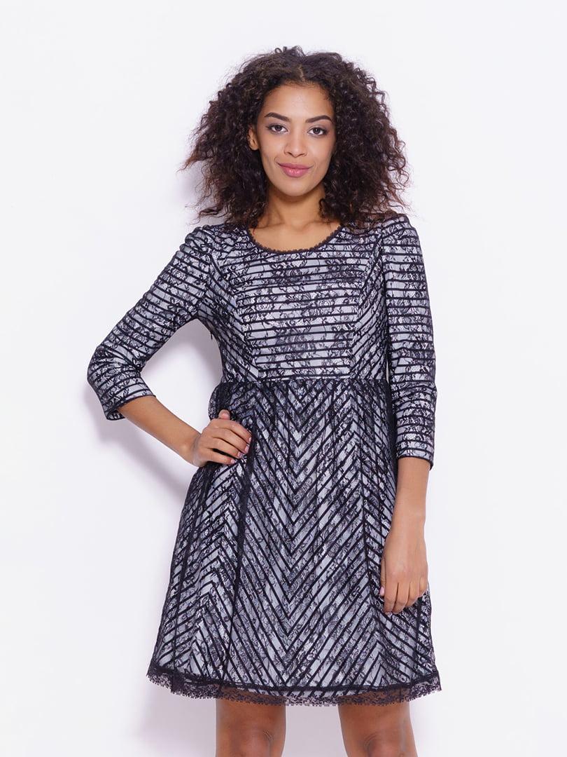 Сукня чорно-біла | 4793107