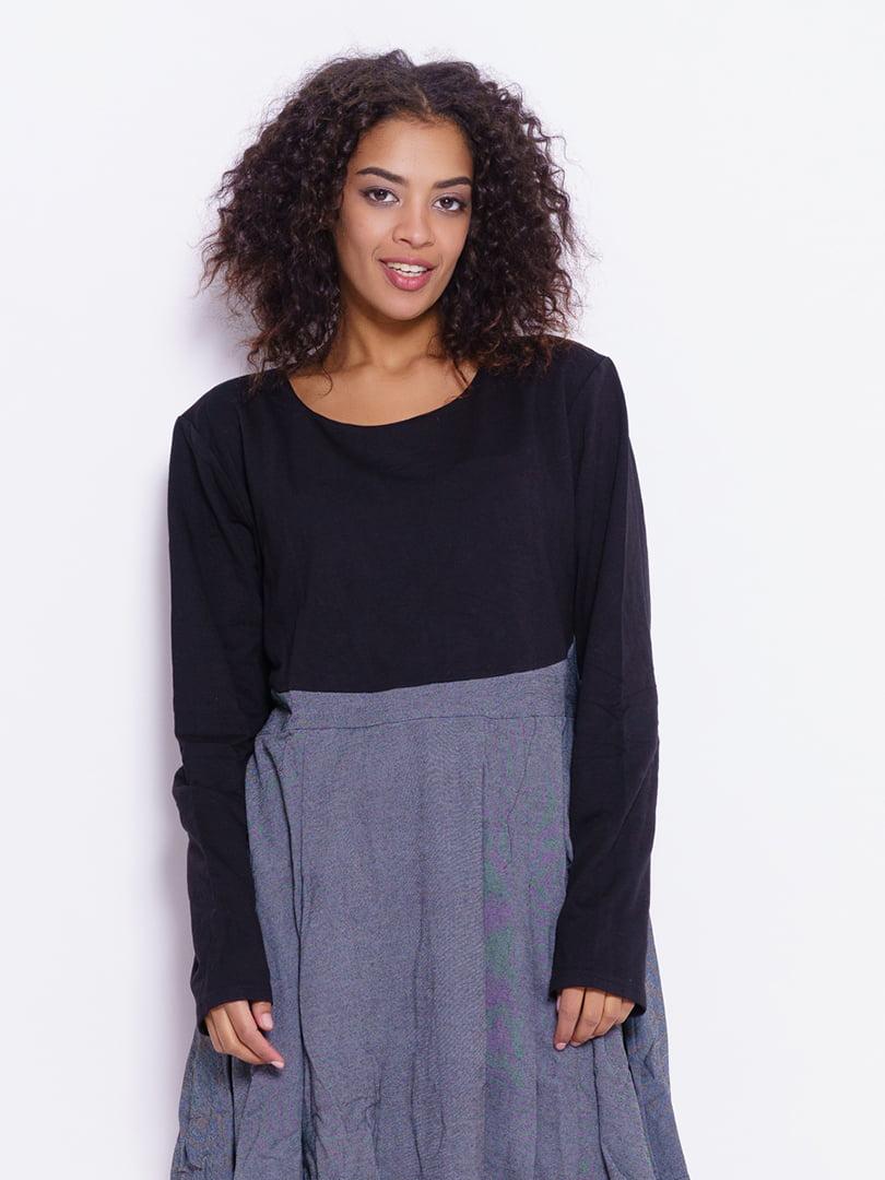 Платье черно-серое | 4793109