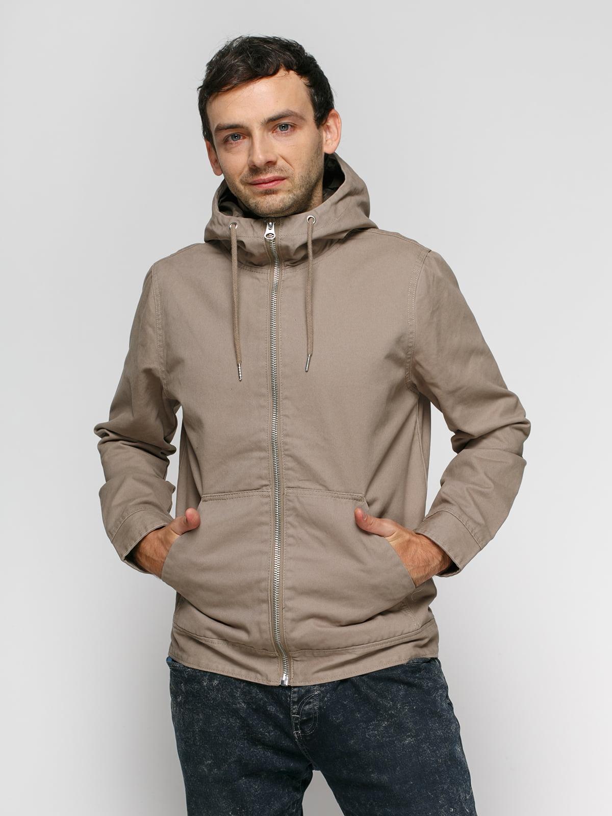 Куртка кольору хакі | 4775869