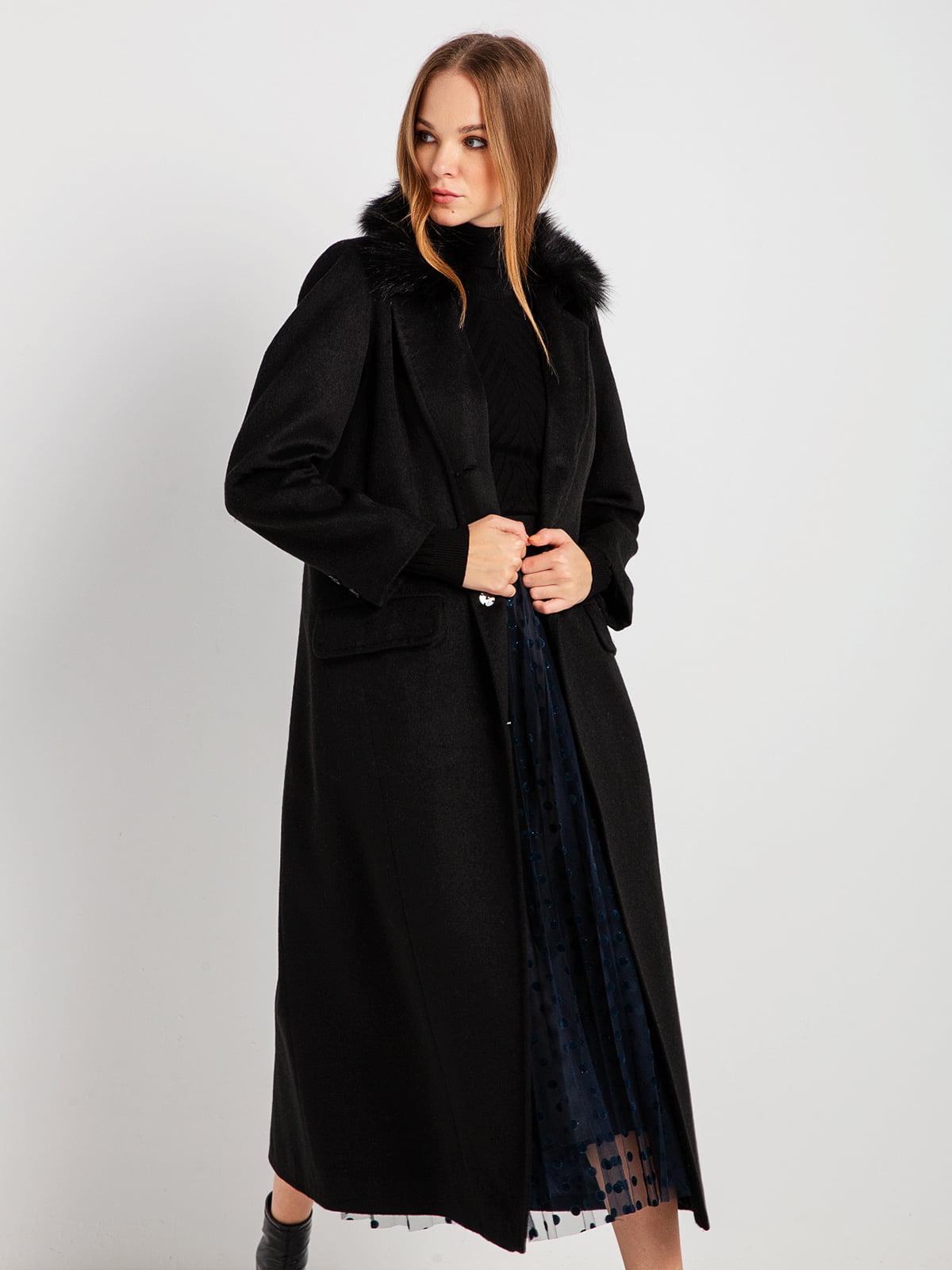 Пальто черное | 4794381 | фото 3