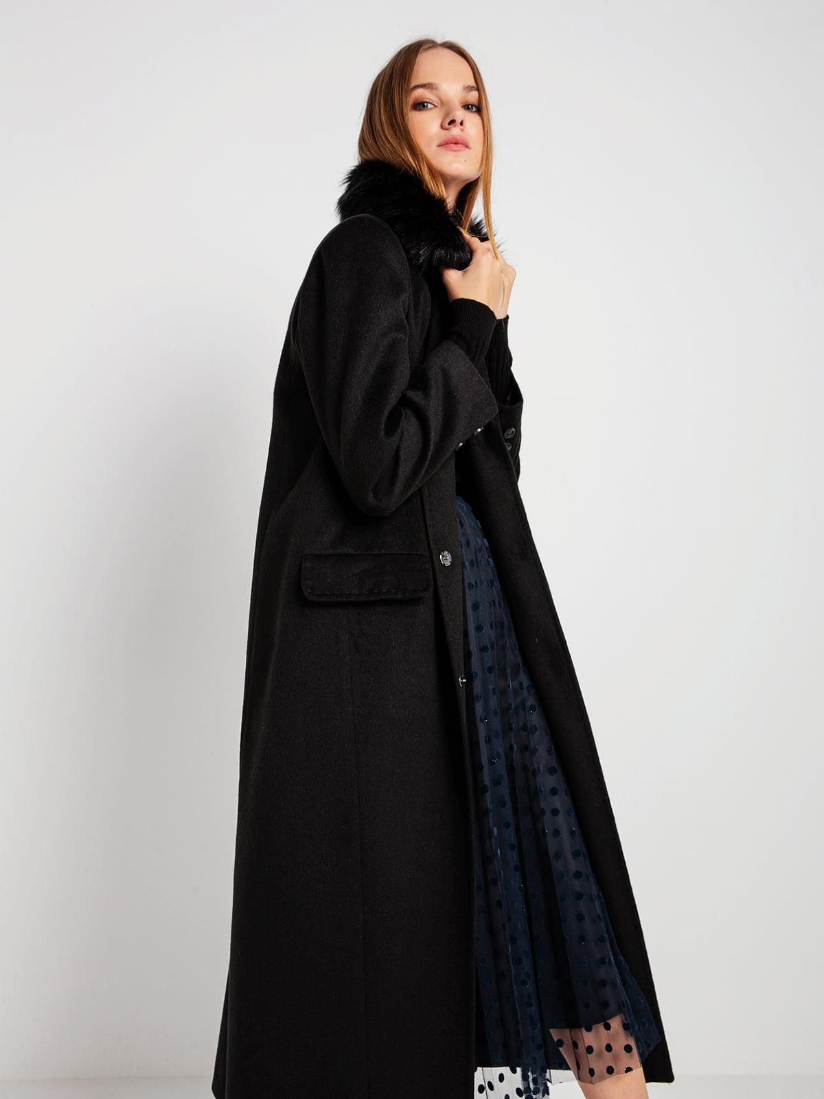 Пальто черное | 4794381 | фото 4