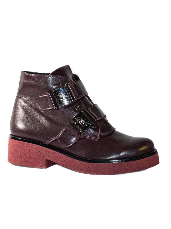 Ботинки бордовые | 4798077