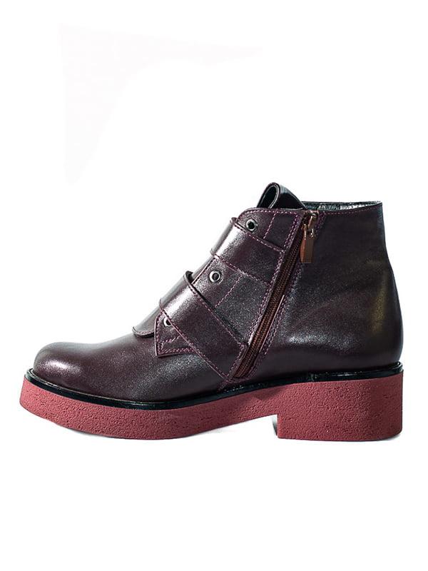 Ботинки бордовые | 4798077 | фото 2