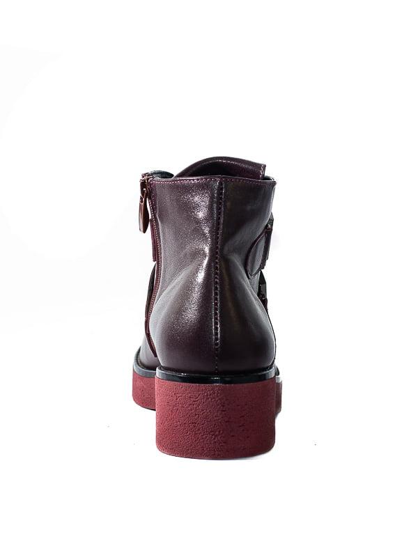 Ботинки бордовые | 4798077 | фото 3