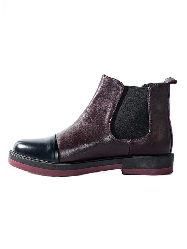 Ботинки бордовые | 4798087