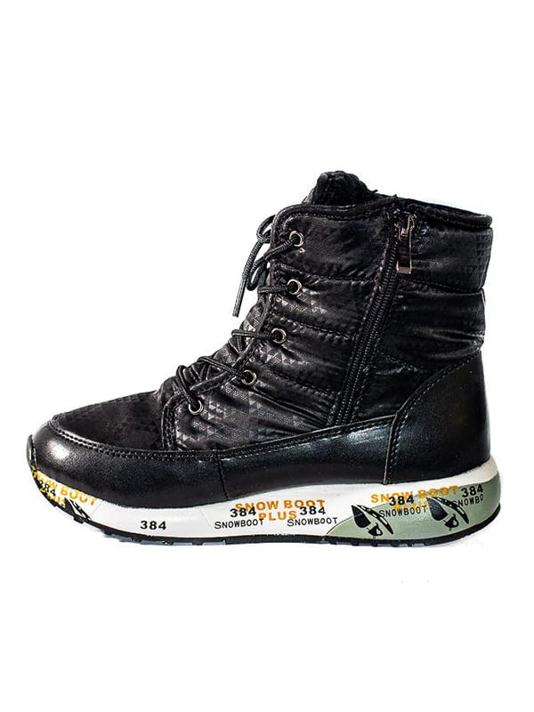 Ботинки черные с принтом   4798162   фото 2