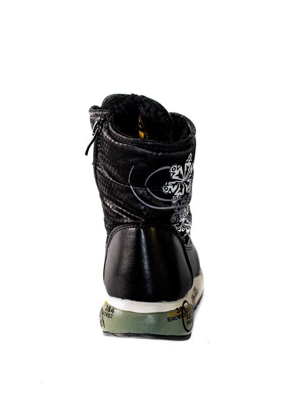 Ботинки черные с принтом   4798162   фото 3